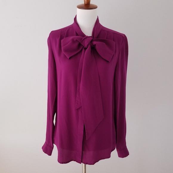 94f8005fb19695 Pippa purple silk pussy bow blouse size 4. M_5bbe44ad409c1533c6b00ea9